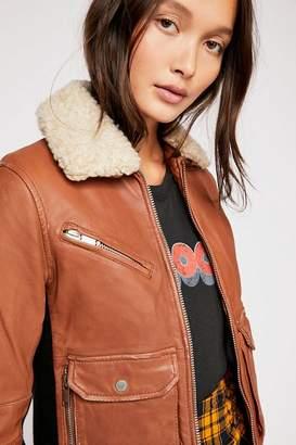 Doma Sherpa Collar Aviator Jacket