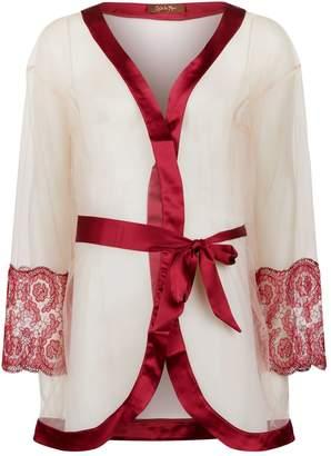 Coco De Mer Embroidered Lace Robe