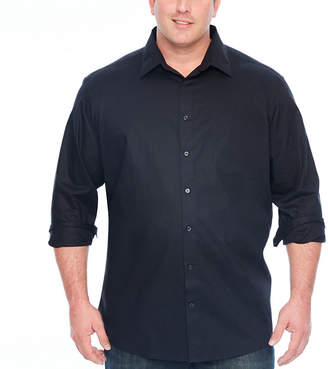 Claiborne Mens Long Sleeve Button-Front Shirt Big and Tall