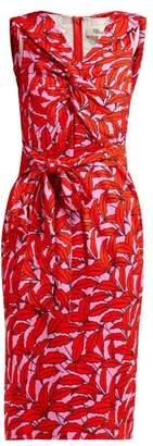Diane von Furstenberg Delphine Palm Print Dress - Womens - Pink Print
