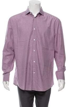 Brunello Cucinelli Gingham Button-Up Shirt