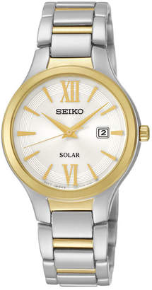 Seiko Womens Two-Tone Stainless Steel Solar Bracelet Watch SUT210