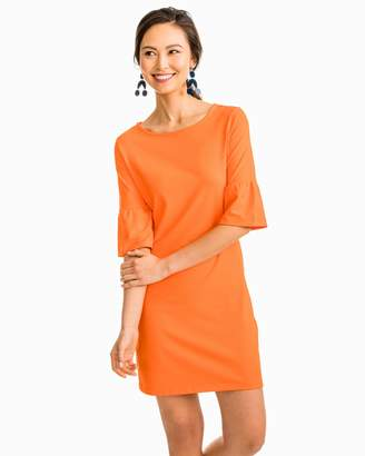 Southern Tide Gameday Micro Stripe Performance Dress