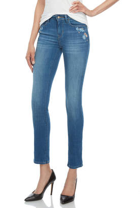 Levi's Floral Embroidered Mid-Rise Skinny Jeans