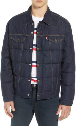 Levi's Down Puffer Trucker Jacket