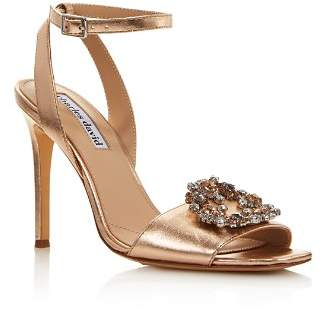 Charles David Women's Vanity Embellished Metallic Leather High-Heel Sandals