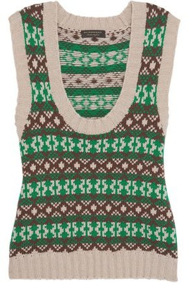Burberry Intarsia Cashmere And Wool-blend Sweater