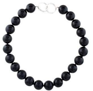Tiffany & Co. Onyx Bead Necklace Onyx Bead Necklace