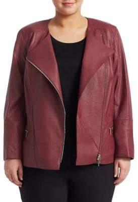 Lafayette 148 New York Lafayette 148 New York, Plus Size Trista Leather Moto Jacket