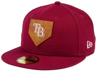 New Era Tampa Bay Rays The Logo of Leather 59FIFTY Fitted Cap