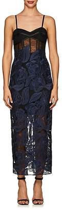 MANNING CARTELL Women's Secret Gardens Sheer Lace Midi-Dress