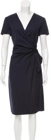 pradaPrada Knot-Accented Midi Dress
