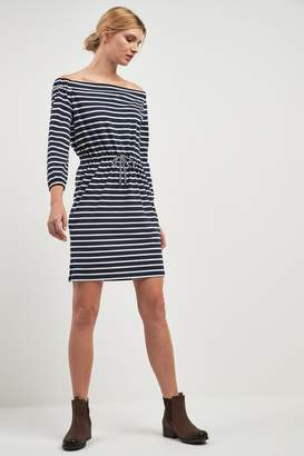 Barbour Womens Navy Stripe Bardot Waveson Dress - Blue