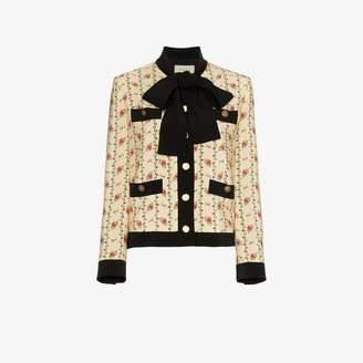 Gucci Rose print silk marocain jacket