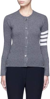 Thom Browne Stripe sleeve cashmere cardigan