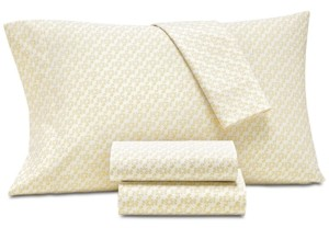 Charter Club Damask Designs Scroll Cotton 550-Thread Count 3-Pc. Twin Sheet Set, Created for Macy's Bedding