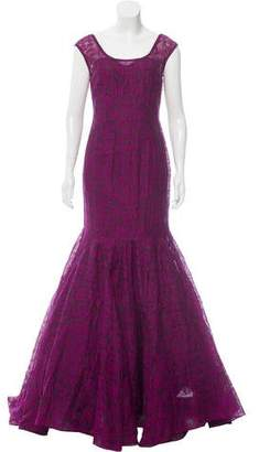 Lela Rose Embroidered Evening Gown $695 thestylecure.com