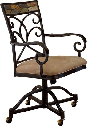 Hillsdale Furniture Pompei 2-pc. Rolling Dining Chair Set