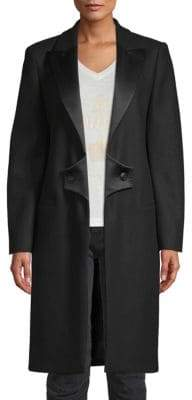 Pierre Balmain Peak Lapel Wool Coat