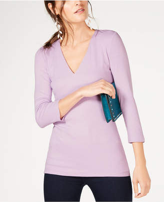 INC International Concepts I.n.c. Ribbed Top, Created for Macy's