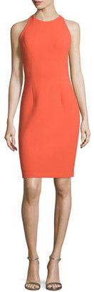 Carmen Marc Valvo Sleeveless Sheath Dress with Back Cutouts, Orange $495 thestylecure.com