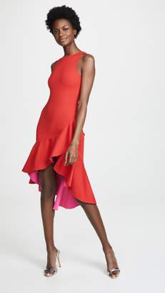 Susana Monaco Contrast Ruffle Sleeveless Dress