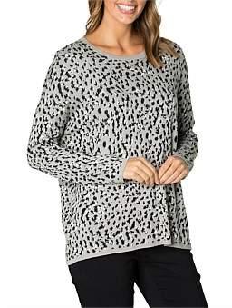 Marc O'Polo Marco Polo Long Sleeve Animal Sweater