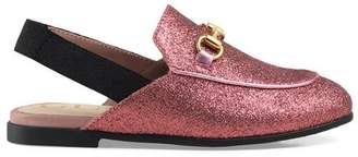 Gucci Toddler Princetown glitter slipper