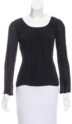 Rebecca Minkoff Embellished Silk Top