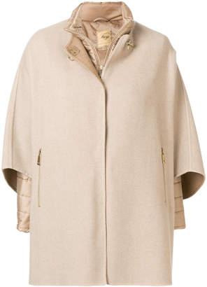 Fay padded cape jacket
