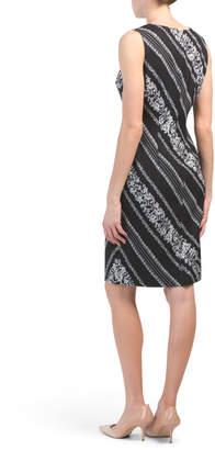 Adrianna Papell Printed Sheath Dress