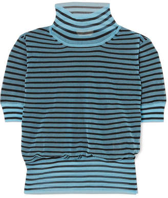Fendi Striped Silk-blend Turtleneck Sweater