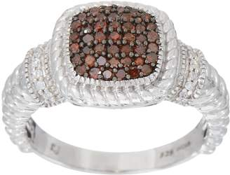 Affinity Diamond Jewelry Colored Diamond Cushion Ring, 1/4 cttw, Sterling, by Affinity