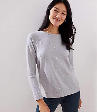 LOFT Petite Embellished Sweatshirt