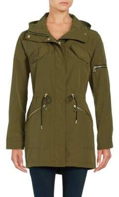 Vince Camuto Removable Hood Anorak Jacket