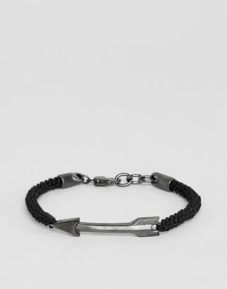 Fossil mens stainless steel arrow bracelet