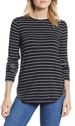 Lou & Grey Stripe Signaturesoft Shirttail Top