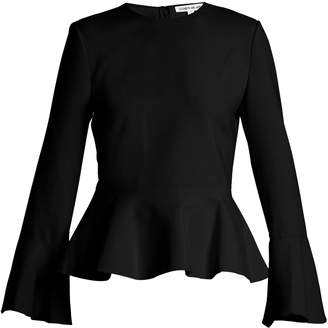 Elizabeth and James Ruthe round-neck peplum top