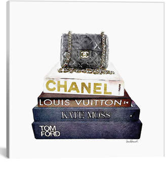 Chanel icanvasart Stack Of Fashion Books With A Bag By Amanda Greenwood