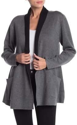 Vertigo Shawl Collar Double Knit Swing Sweater
