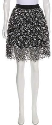 Self-Portrait Embroidered Knee-Length Skirt