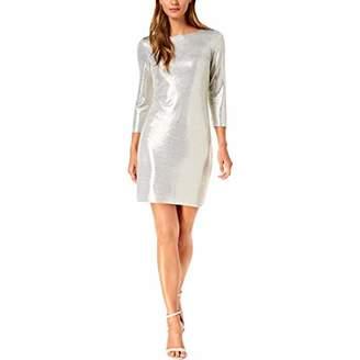 Jessica Howard Women's Long Sleeve Metallic Shift Dress