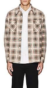 Visvim Men's Plaid Cotton Flannel Shirt - Brown