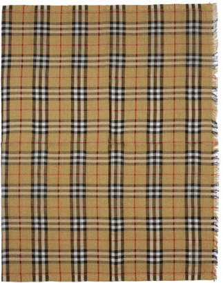 Burberry Yellow and Gold Check Scarf