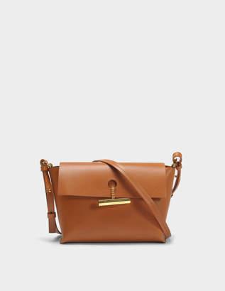 Sophie Hulme The Pinch Crossbody Bag in Tan Cowhide