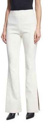 Solace London Ray High-Rise Slit-Side Trousers $380 thestylecure.com