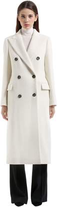 Tagliatore Double Breasted Angora Long Coat