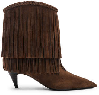 Saint Laurent Charlotte Fringe Booties