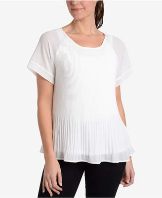 NY Collection Pleated T-Shirt