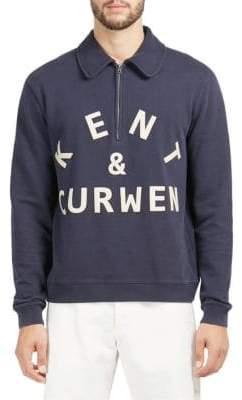 Kent & Curwen Half-Zip Cotton Sweater